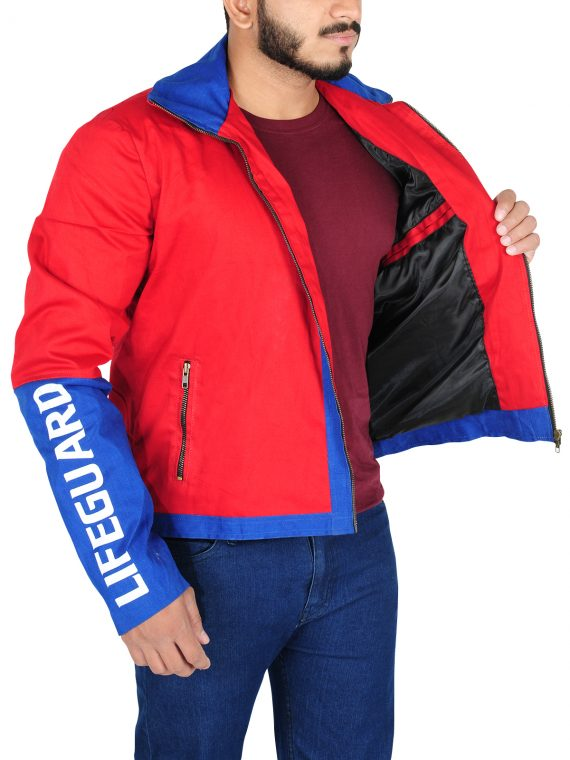 Dwayne Johnson Red Jacket