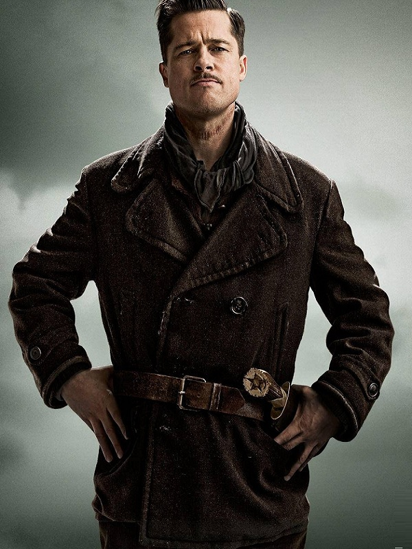 Brad Pitt Inglourious Basterds Leather Coat