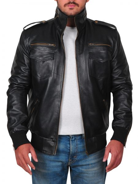 Brooklyn Nine Nine Andy Samberg Black leather Jacket