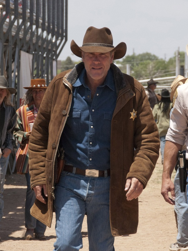 Robert Sheriff Walt Longmire Leather Coat
