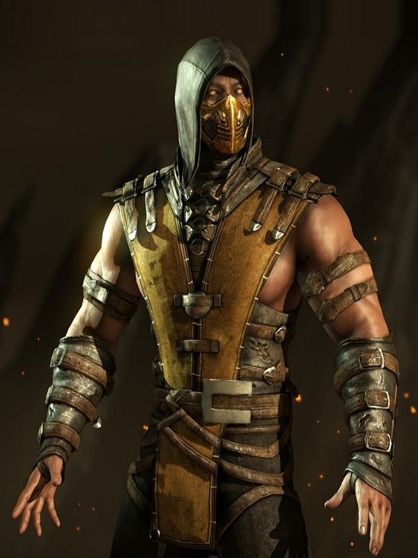 Mortal Kombat X Game Scorpion Costume Vest