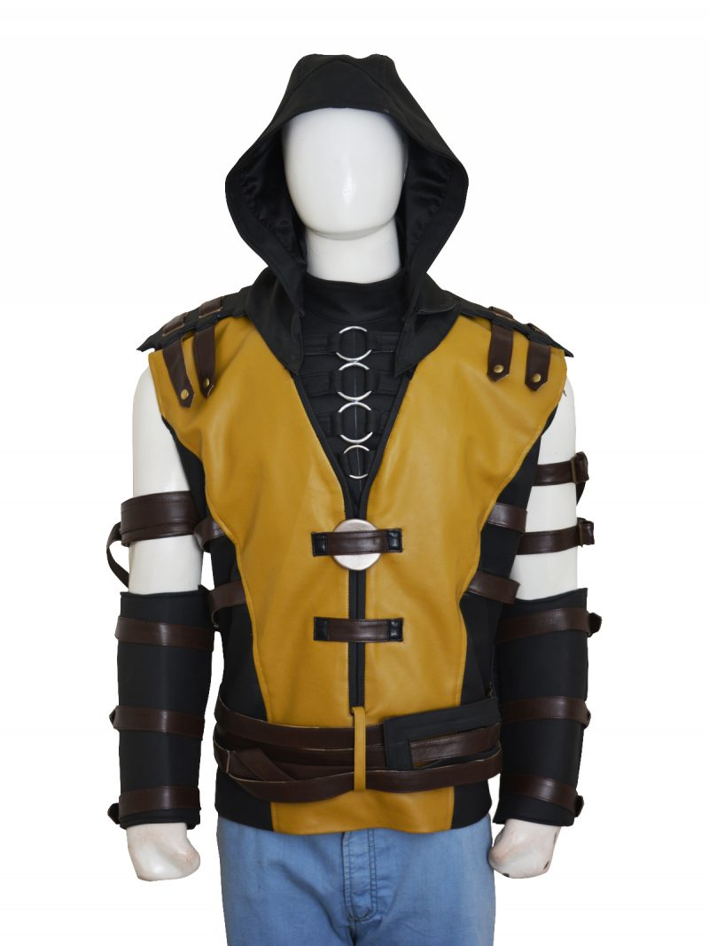 Mortal Kombat X Video Game Scorpion Leather Vest