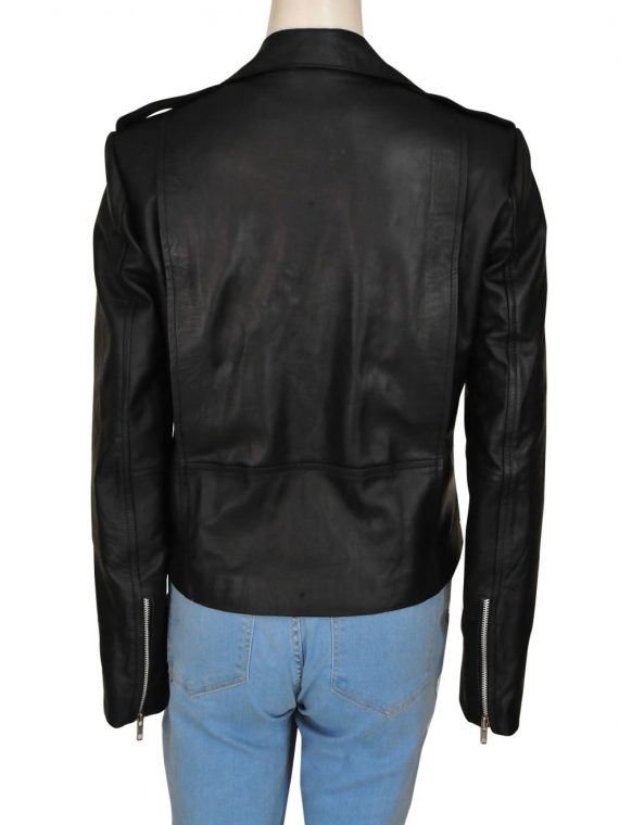 Black Colored Leather Jacket Worn By Kim Kardashian,