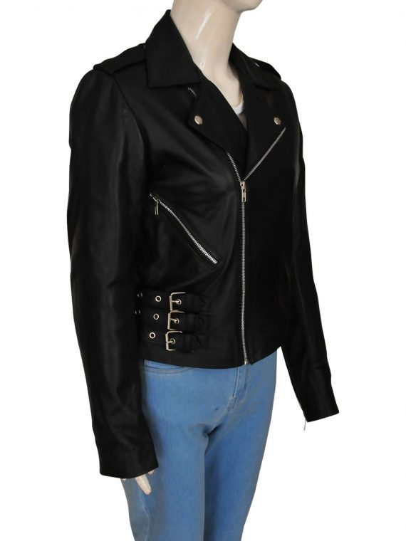 Kim Kardashian Biker Leather Jacket,