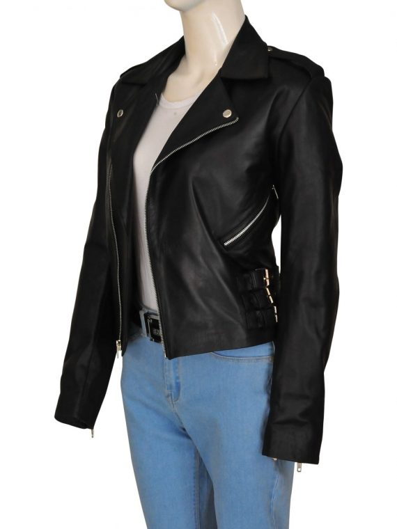 Kim Kardashian Motorbiker Leather Jacket,