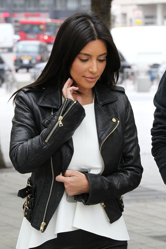 Kim Kardashian Motorcycle Leather Jacket