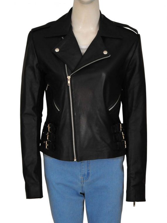 Kim Kardashian Motorcycle Leather Jacket,