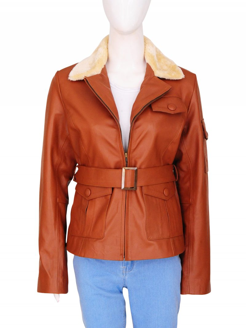 Amelia Earhart Night At The Museum 2 Leather Jacket