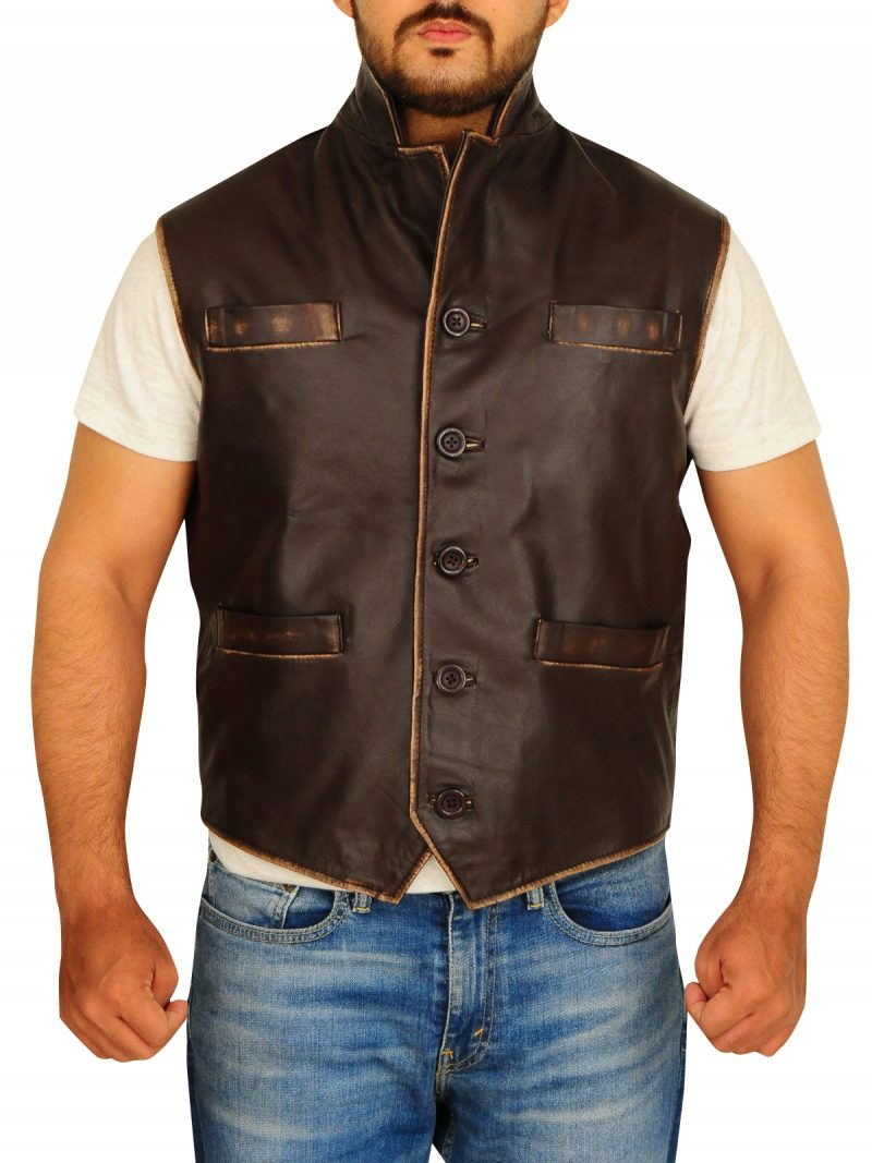 Anson Mount Series Hell On Wheels Leather Vest