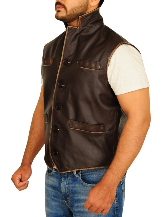 Anson Mount TV Hell On Wheels Leather Vest