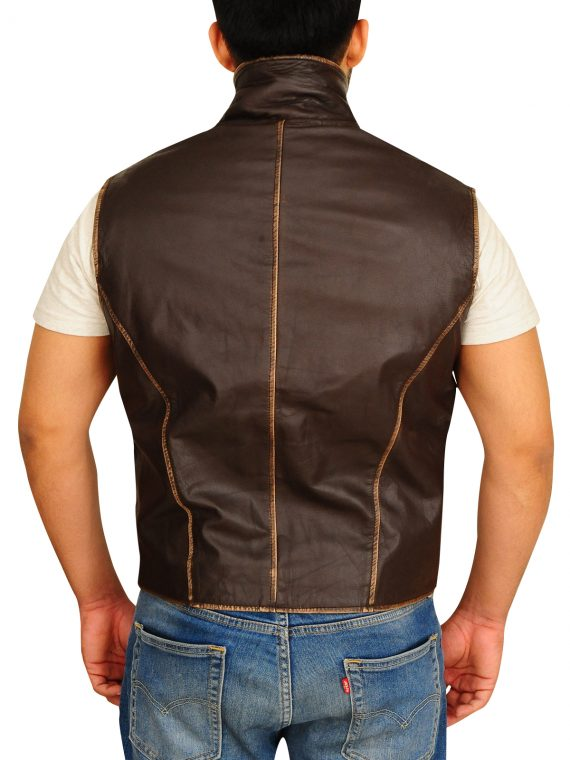 Anson Mount TV Series Hell On Wheels Brown Vest