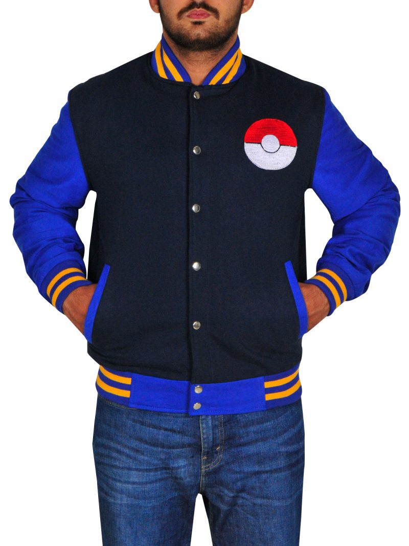 Ash Pokemon Blue Jacket