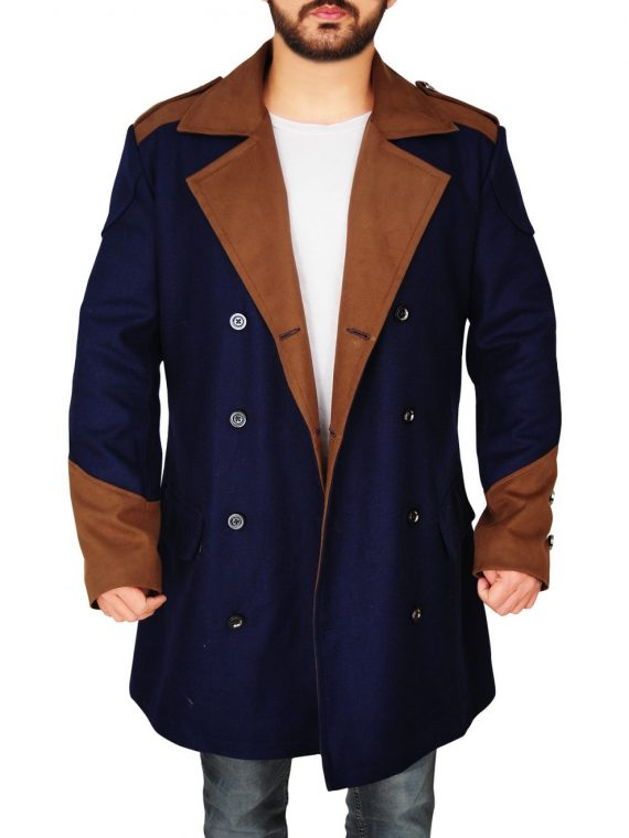 Assassins Creed Unity Game Cosplay Wool Blue Coat,
