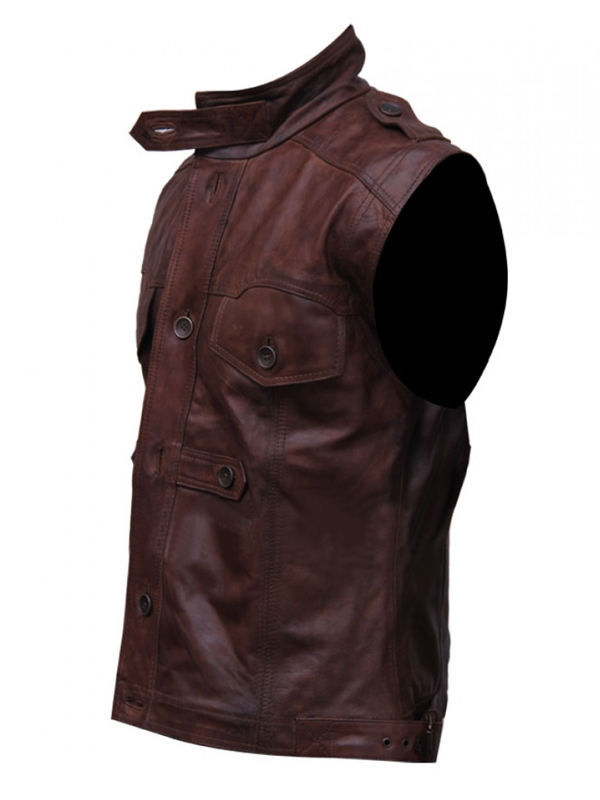 Distressed Chocolate Brown Vest