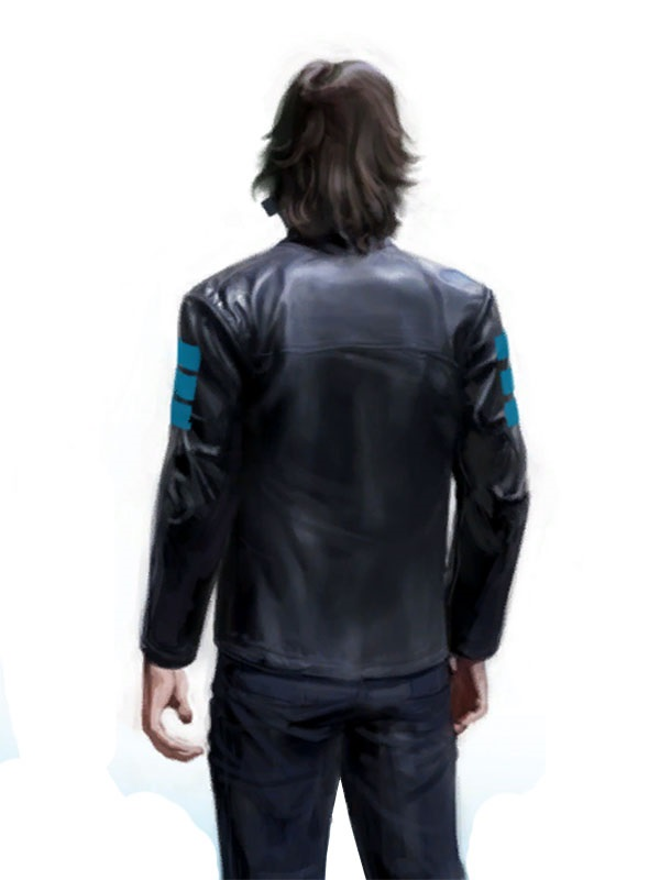 Edge Catalyst Jacknife Mirror's Leather Coat