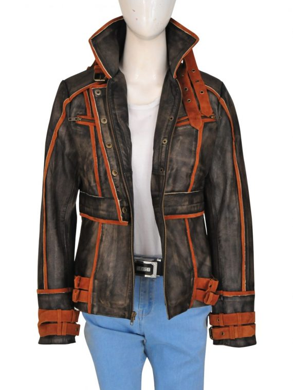 Jessica Biel Melina Total Recall Leather Jacket,