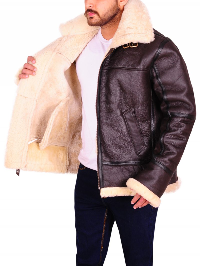 Men B3 Flying Aviator Sheepskin Jacket