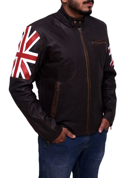 Men Uk Flag Jacket