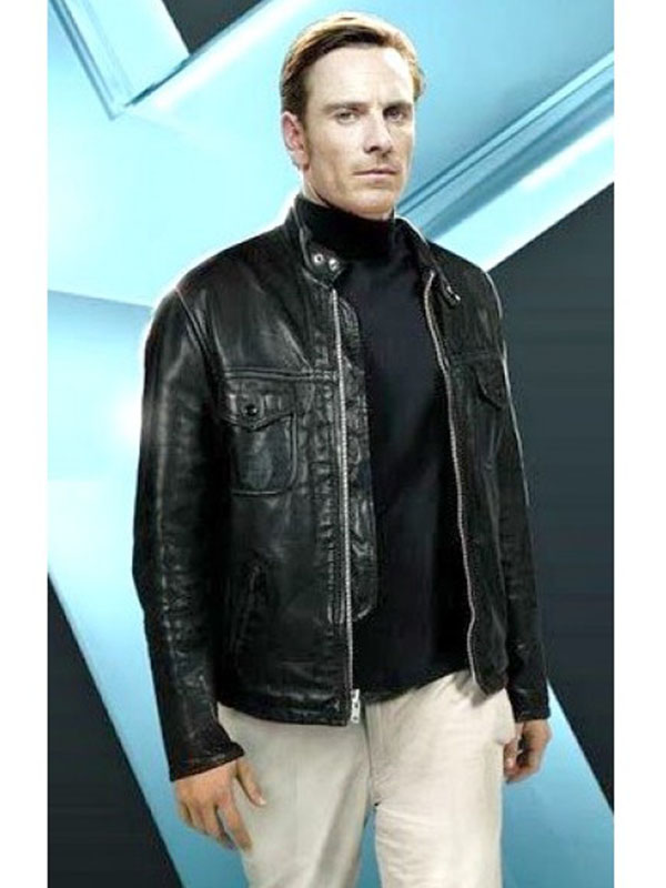 Michael Fassbender Movie X Men Leather Jacket