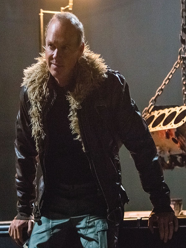 Michael Keaton Homecoming Fur Leather Jacket