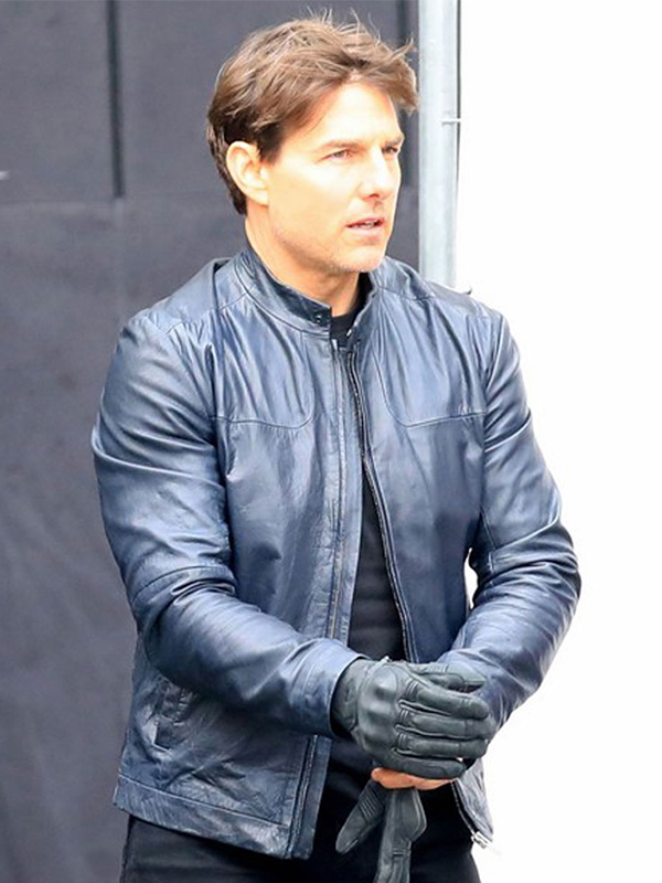 TOM CRUISE MOVIE MISSION IMPOSSIBLE 6 LEATHER JACKET