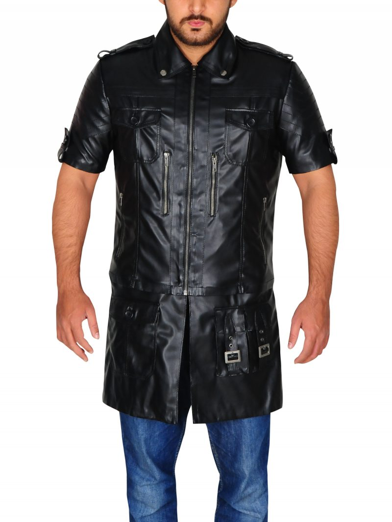 Noctis Lucis Caelum Final Fantasy Leather Jacket