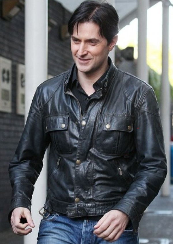 Richard Armitage Black Leather Jacket