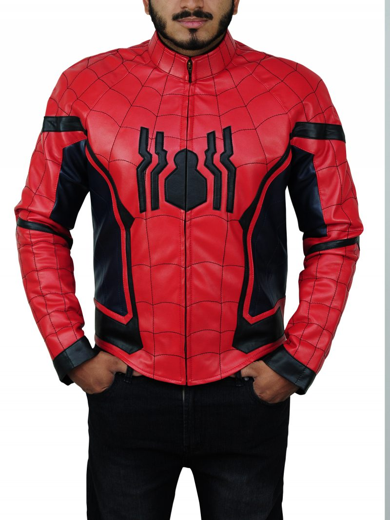 Spider Man Costume Leather Jacket