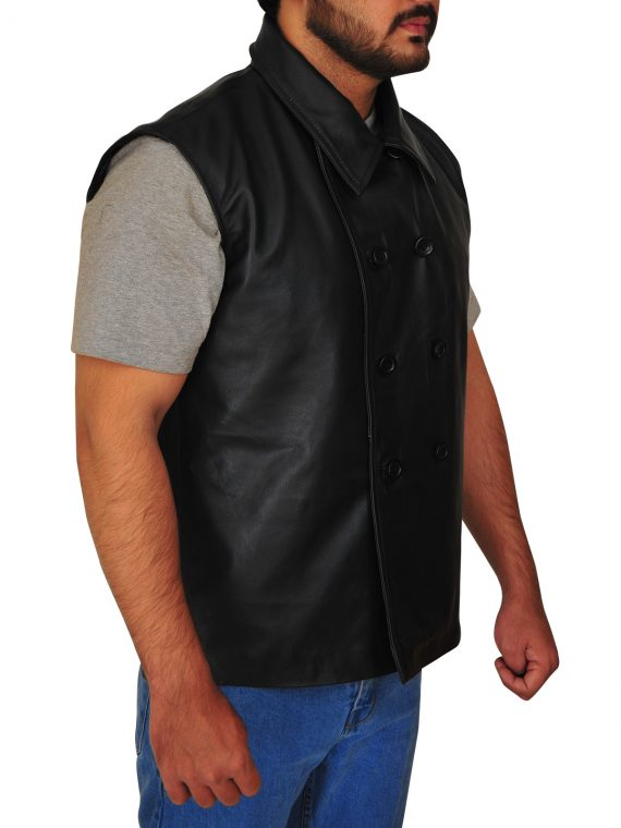 Spider-Man Leather Vest Black Noir,