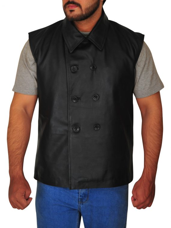 Spider-Man Leather Vest From Black Noir,