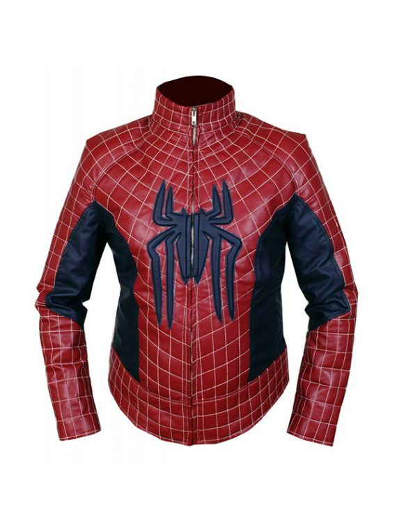Spider Man Red Costume Leather Jacket
