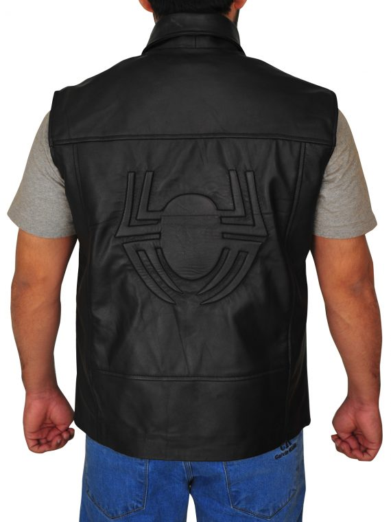 Spiderman Macho Noir Leather Vest,