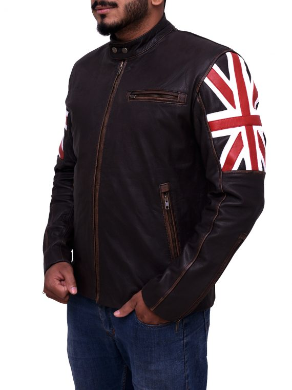 Uk Flag Biker Jacket