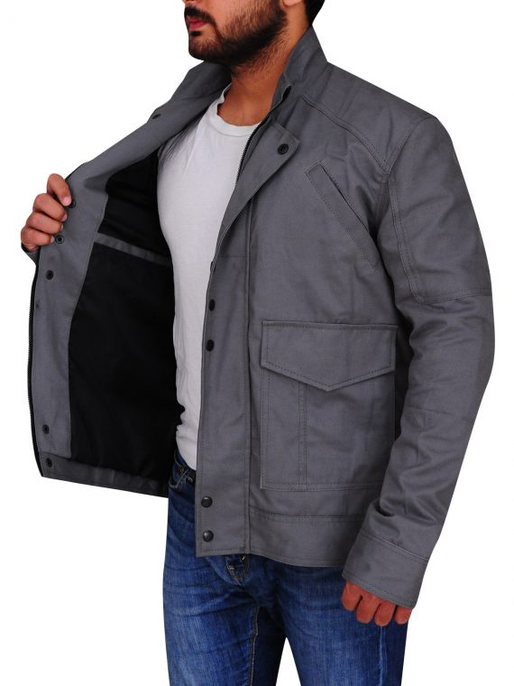 Christian Cage Grey Cotton Jacket