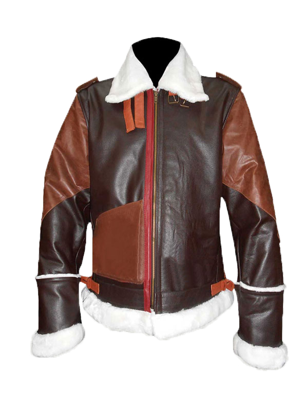 B3 Bomber Military Cow Hide Leather Jacket