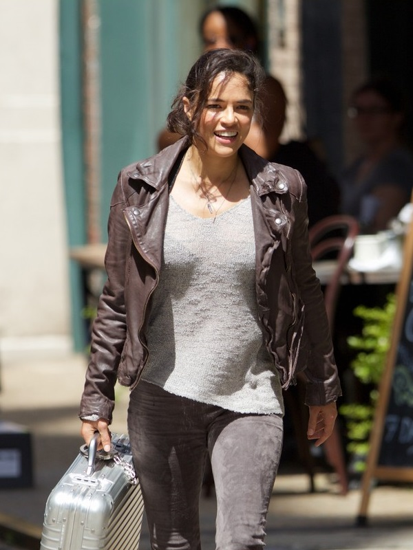 Michelle Rodriguez Movie Fast And Furious 8 Leather Jacket