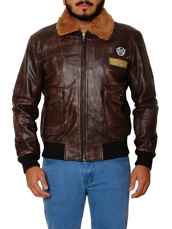Nick Jonas Jumanji 2 Welcome to the Jungle Leather Jacket