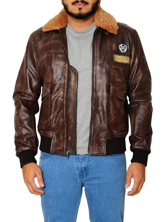 Nick Jonas Jumanji Welcome to the Jungle Leather Jacket