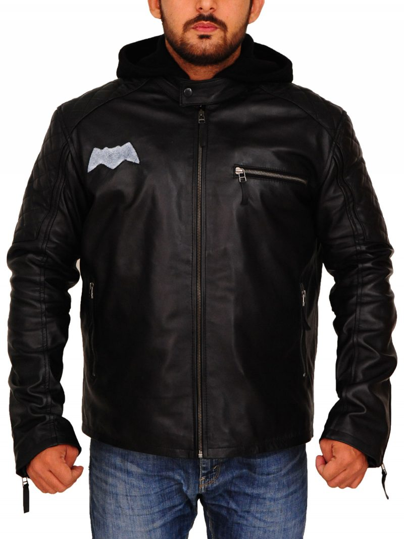 Batman Motorcycle Leather Jacket For Men