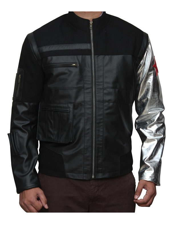 Sebastian Stan Captain America Civil War Leather Jacket