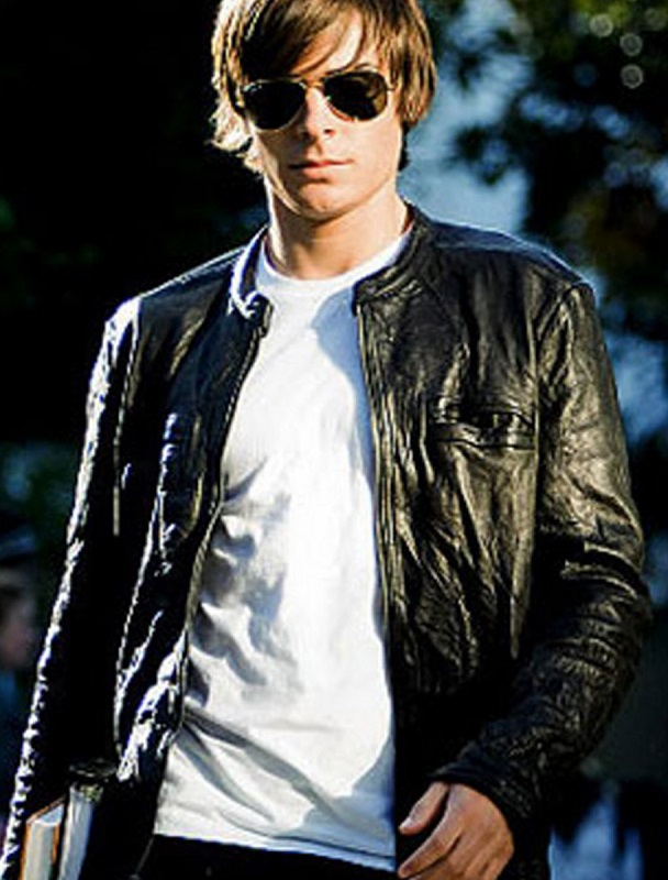 Zac Efron 17 Again Oblow Leather Jacket