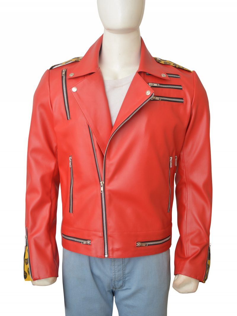 Enzo Amore WWE Red Leather Jacket