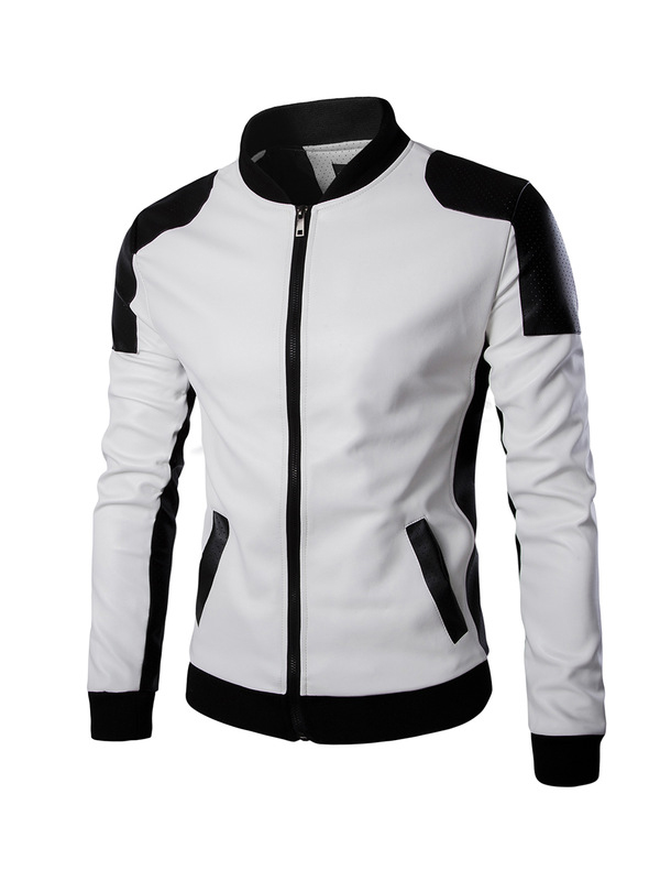 Joliet White Leather Jacket For Mens