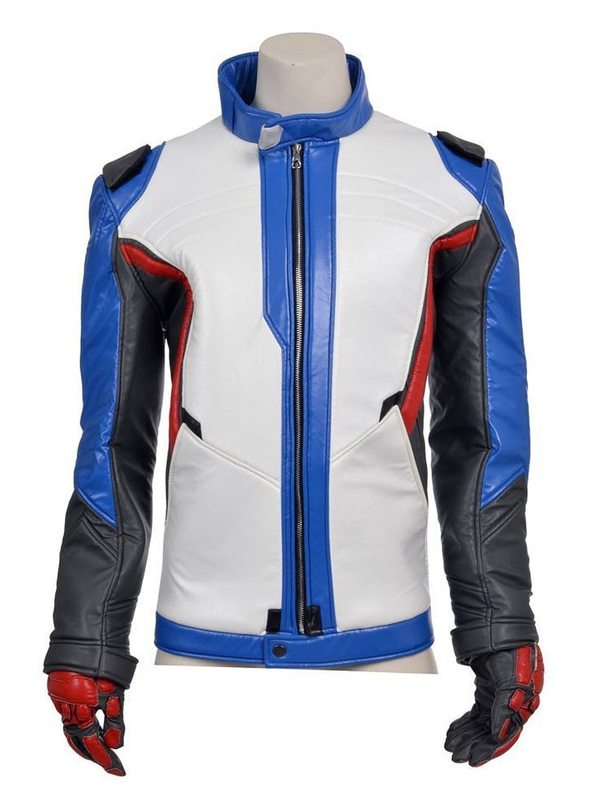 Overwatch Game Soldier 76 Motorcycle Leather Jacket