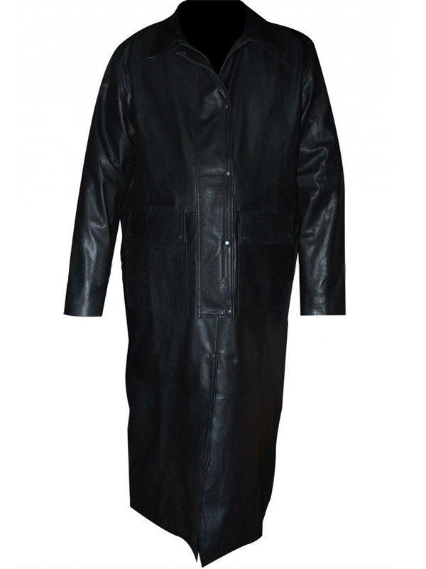 Sting WWE Wrestler Black Leather Trench Coat