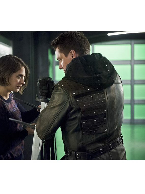 Malcolm Merlyn leather Outfit, Jacket,