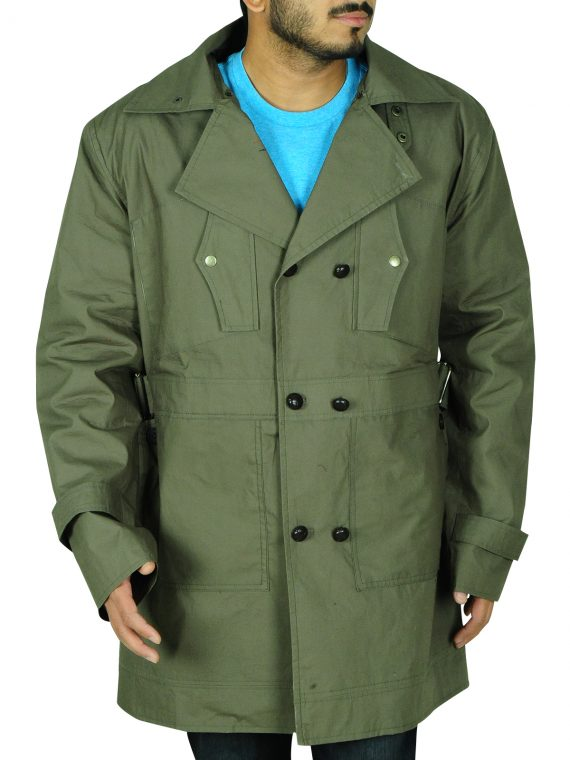 Chris Pine Green Coat