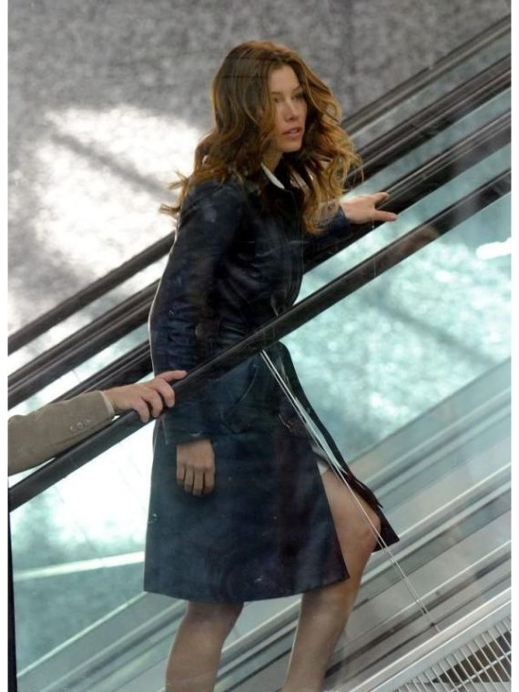 Jessica Biel The A Team Lt Sosa Trench Coat