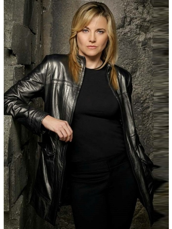 Lucy Lawless Battlestar Galactica TV Series Leather Jacket