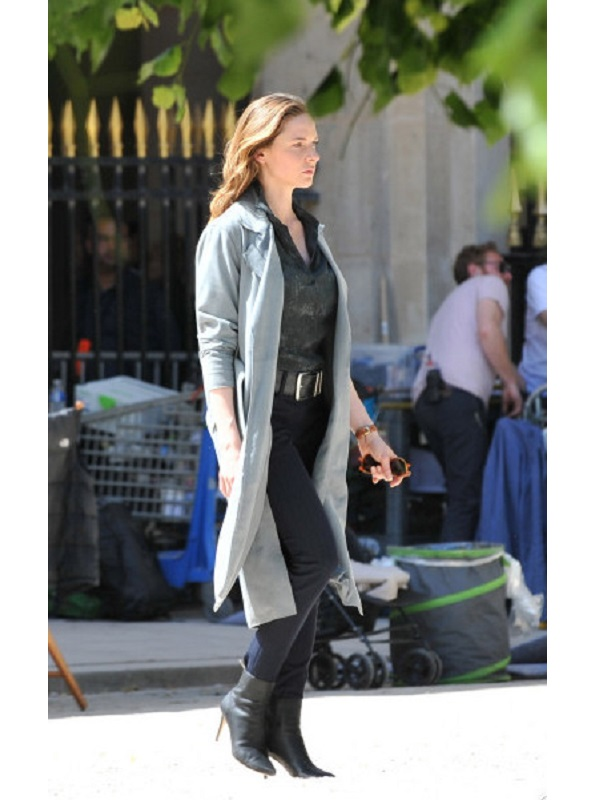 Rebecca Ferguson Mission Impossible 6 Grey Long Coat